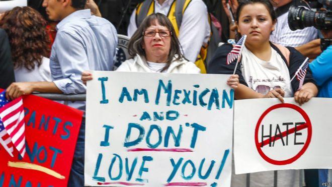 Protesta contra Trump en Chicago