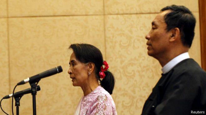 Bà Suu Kyi và ông Shwe Mann