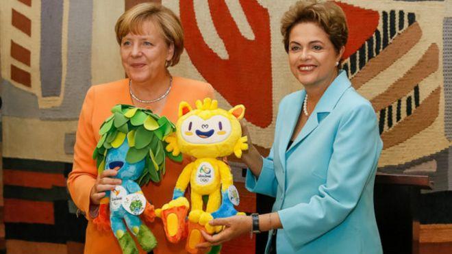 Dilma Rousseff com Angela Merkel (Foto: Roberto Stuckert Filho/PR)