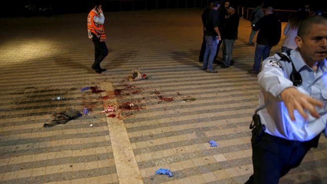 Место нападения в Яффе
