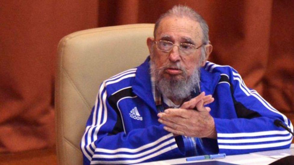 Fidel Castro en abril de 2016