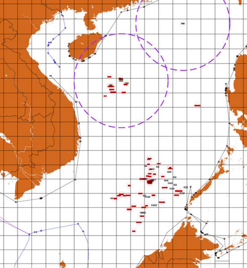 Bản đồ Biển Đông của tác giả Dương Danh Huy