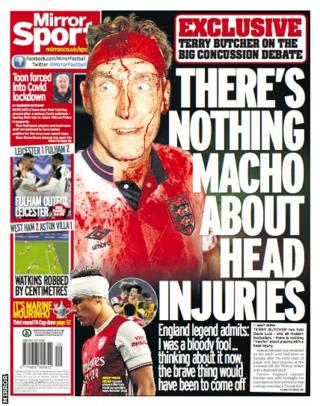 Tuesday's Mirror back page
