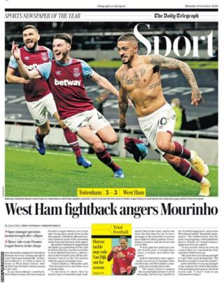 Daily Telegraph sport section