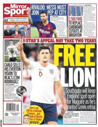 Friday's Daily Mirror