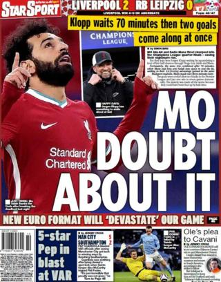 Thursday's Star back page