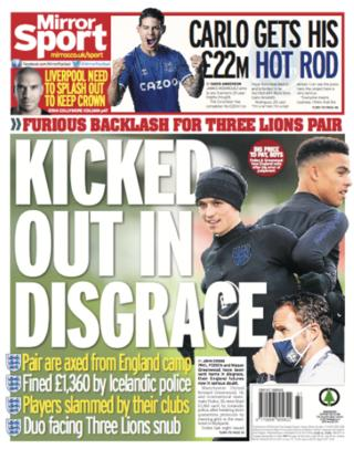 Tuesday's Mirror: 'Kicked out in disgrace'