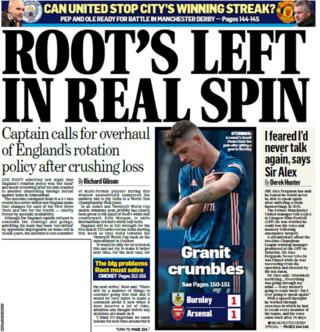 Back page of the Mail on Sunday on 7 March 2021