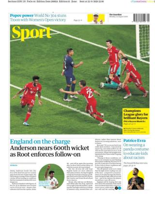 The Guardian sports pages