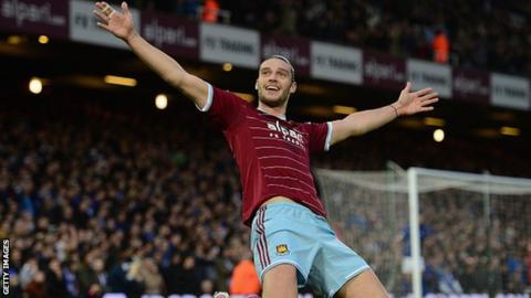 West Ham and England striker Andy Carroll