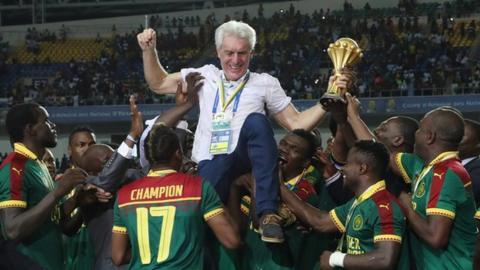 Cameroon coach Hugo Broos