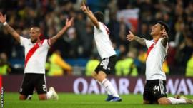 River Plate players celebrate