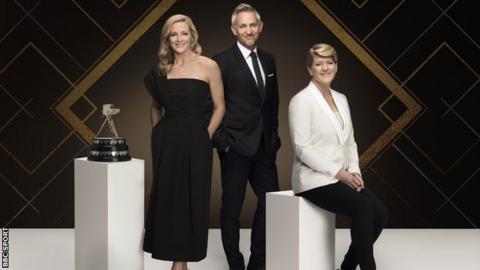 Gabby Logan, Gary Lineker and Clare Balding