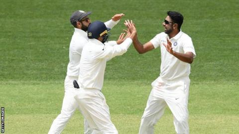 Ravichandran Ashwin celebrates one of his wickets