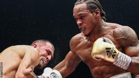 Yarde (right) looked close to victory in round eight but Kovalev responded