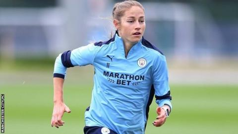 sport Janine Beckie training with Manchester City