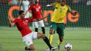 Mohamed Elneny in action for Egypt during the Africa Cup of Nations
