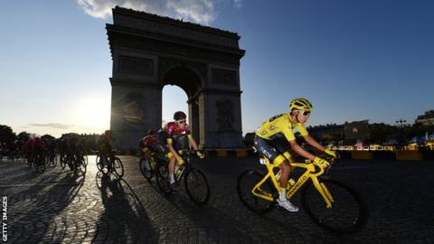 Egan Bernal in yellow in 2019 Tour de France