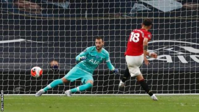 Tottenham Hotspur 1-1 Manchester United: Bruno Fernandes' late ...