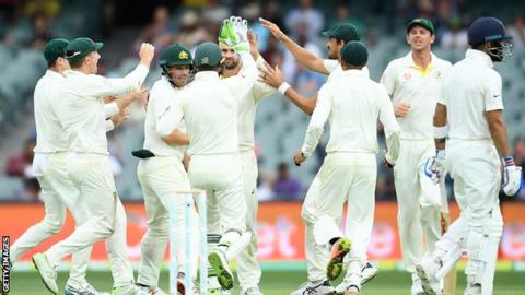 Australia congratulate Nathan Lyon