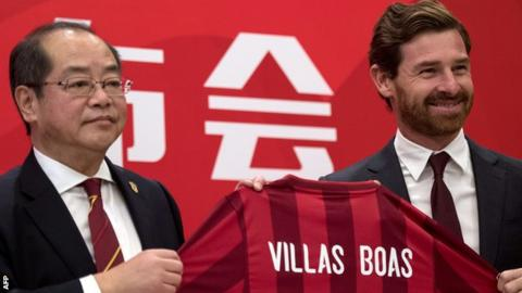 Andre Villas-Boas is appointed manager of Chinese Super League team Shanghai SIPG