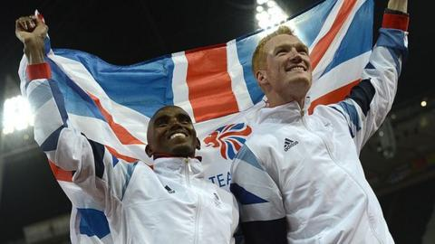 sport Mo Farah and Greg Rutherford