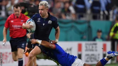 Winger Darcy Graham is the only player in the Scotland XV who started in the win over Samoa