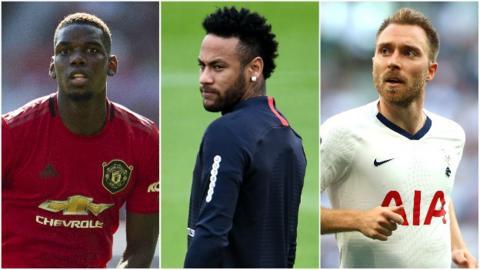 Paul Pogba, Neymar, Christian Eriksen