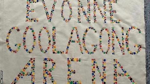 sport Martina Navratilova's Evonne Goolagong Arena banner