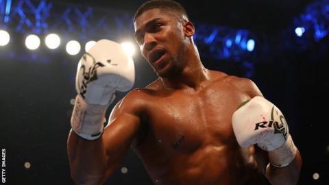 Britain's heavyweight champion Anthony Joshua