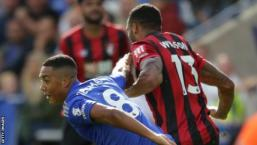 Leicester City's Youri Tielemans was involved in an incident with Bournemouth's Callum Wilson which should have seen him sent off on 31 August