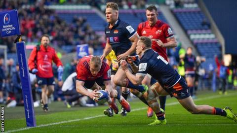 Image Result For European Champions Cup Edinburgh Munster Visitors Come From Behind To Reach Semi Finals