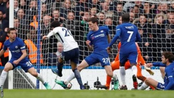 Image result for Chelsea vs Tottenham 1-3