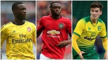 Nicolas Pepe, Aaron Wan-Bissaka and Sam Byram