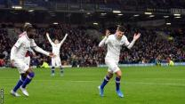 Christian Pulisic celebrates scoring