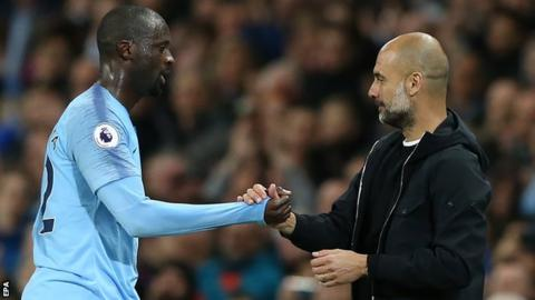 Toure (left) started one league game in the 2017-2018 season