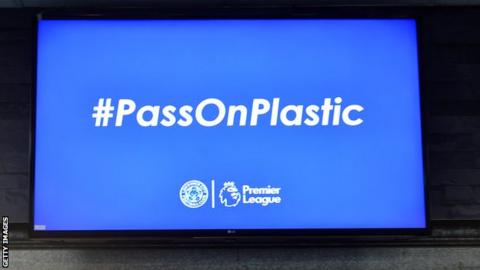sport Leicester launched new reusable cups in the concourses at King Power Stadium before the Premier League match and Arsenal FC