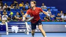 Andy Murray playing at the Zhuhai Championships