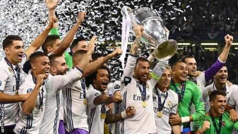 Real Madrid have won the Champions League for the third time in four seasons