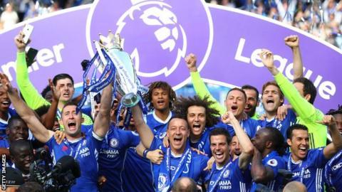 切尔西赢得英超联赛冠军