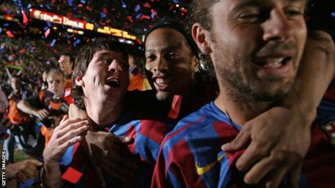 Ronaldinho and Messi