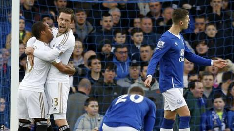 Everton 1-2 Swansea City - BBC Sport
