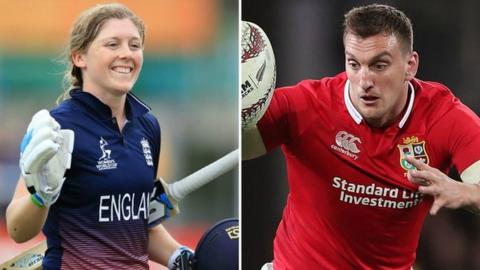 Heather Knight (left) and Sam Warburton