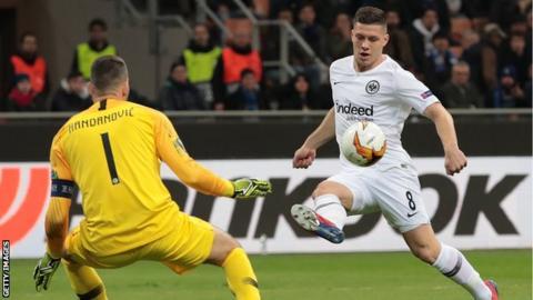 Inter Milan   Eintracht Frankfurt Jovic Strike Sends