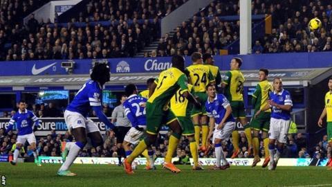 Everton 2-0 Norwich City - BBC Sport