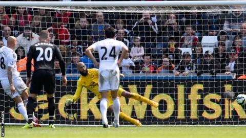 Swansea City 1-1 Everton - BBC Sport