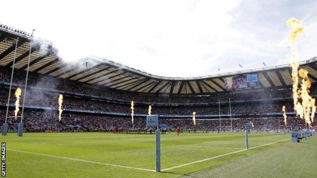 Premiership final at Twickenham