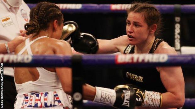 Natasha Jonas (left) and Katie Taylor (right)