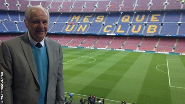Evaristo de Macedo at Camp Nou