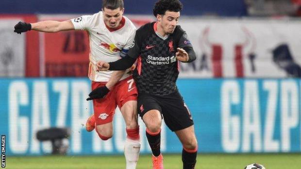 Curtis Jones against RB Leipzig